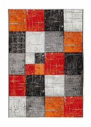 Tapis Wilton - London Square (rouge/orange)