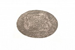 Tapis chiffons - Cassis (rond) (gris)