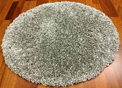 Tapis rond 120 cm - Shaggy Deluxe (silver)