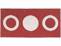 Tapis en plastique - Le tapis de Horred Circle (rouge)