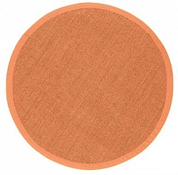 Tapis rond 200 cm - Manaus (sisal) (marron/orange)
