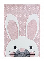 Tapis enfants - London Rabbit (rose)