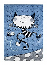 Tapis enfants - London Kitty (bleu)