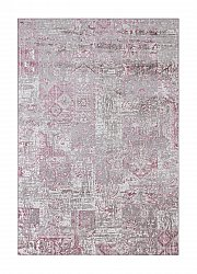 Tapis Wilton - Faro Patch (blanc/gris/rose)