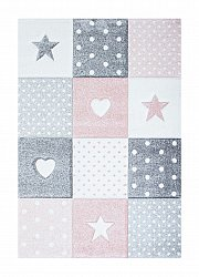 Tapis enfants - Atlas Star (rose)