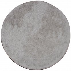 Tapis rond 120 cm - Cosy (argent)