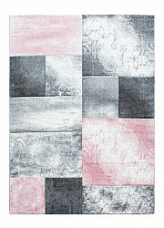 Tapis Wilton - Hawaii (blanc/gris/rose clair)