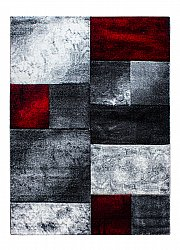 Tapis Wilton - Hawaii (blanc/gris/rouge)