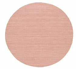 Tapis rond - Dhurry (rose)