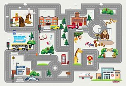 Tapis enfants - City Street (multi)