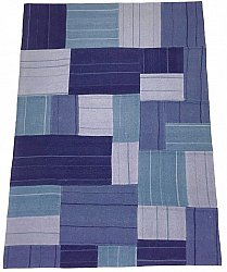 Patchwork - Superior new wool Patchwork (bleu)