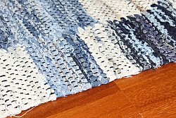 Tapis chiffons Large - Jeans (Patchwork) 160 x 230 cm