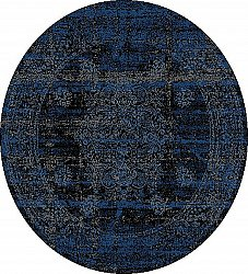 Tapis rond - Peking Royal (bleu marin)