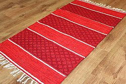 Tapis chiffons Large - Visby (rouge) 160 x 230 cm