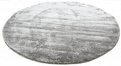 Tapis rond - Shaggy Luxe (argent)