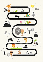 Tapis enfants - Safari road