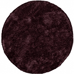 Tapis rond 80 cm - Cosy (violet/prune)