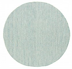 Tapis rond - Snowshill (turquoise/blanc)