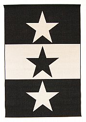 Tapis Wilton - Three Star (noir/blanc)