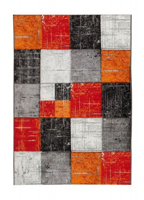 tapis wilton london square rouge orange. Black Bedroom Furniture Sets. Home Design Ideas