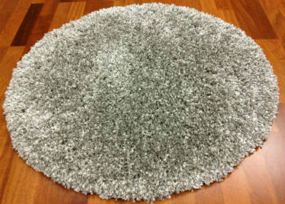 Tapis rond 80 cm - Shaggy Deluxe (silver)