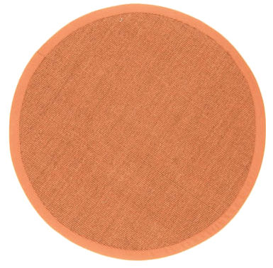 Tapis rond (sisal) - Manaus (marron/orange)