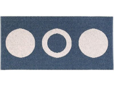 Tapis en plastique - Le tapis de Horred Circle (bleu)