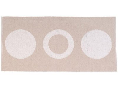 Tapis en plastique - Le tapis de Horred Circle (beige)