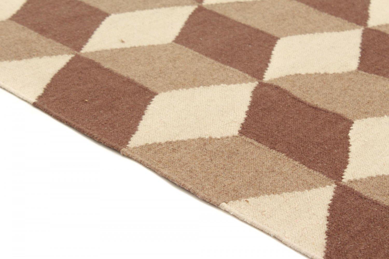 tapis de laine flori da beige marron. Black Bedroom Furniture Sets. Home Design Ideas