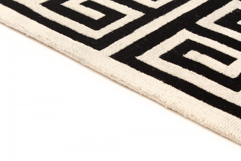 tapis de laine gimari noir blanc. Black Bedroom Furniture Sets. Home Design Ideas