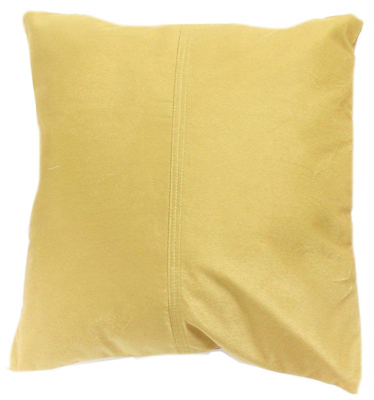 Coussins en velours de soie jaune housse de coussin 45 - Housse de coussin 45 x 45 ...