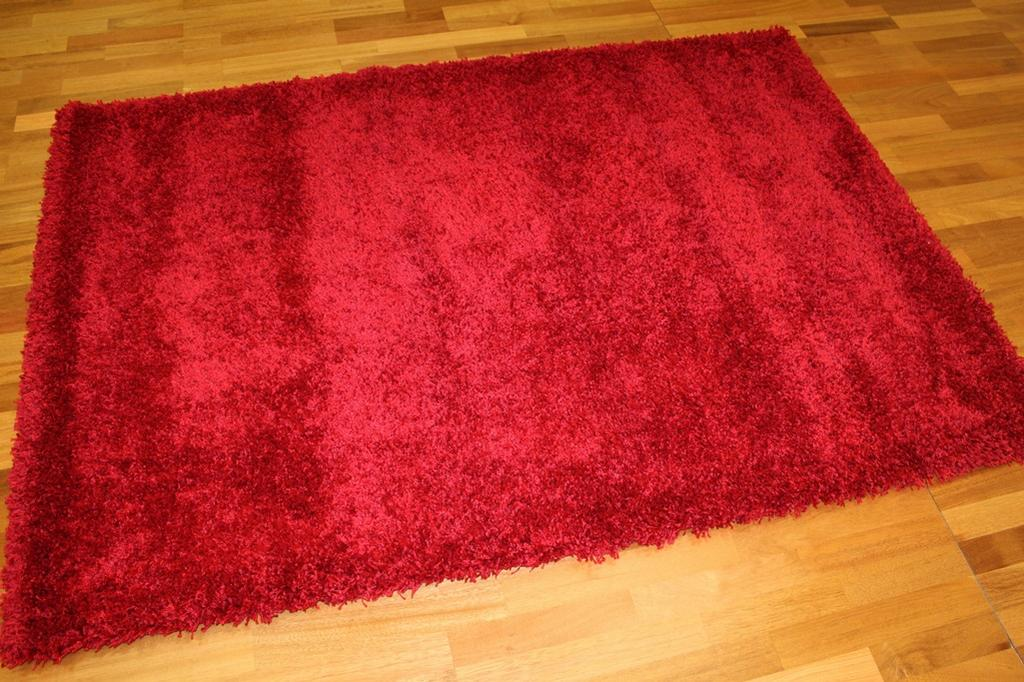 tapis shaggy shaggy deluxe rouge. Black Bedroom Furniture Sets. Home Design Ideas