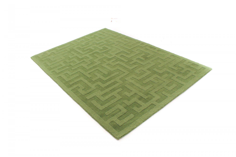 Tapis de laine kalam ta vert for Tapis vert turquoise