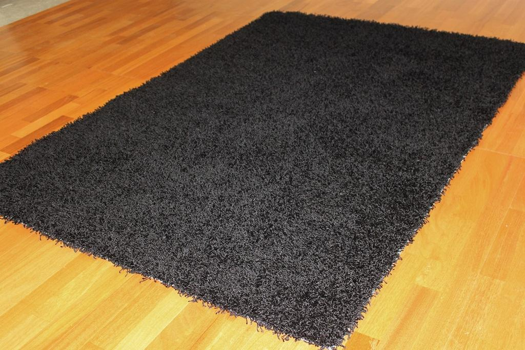Lovely Tapis 60 X 120 #2: ... Tapis Shaggy - Fancy (noir)