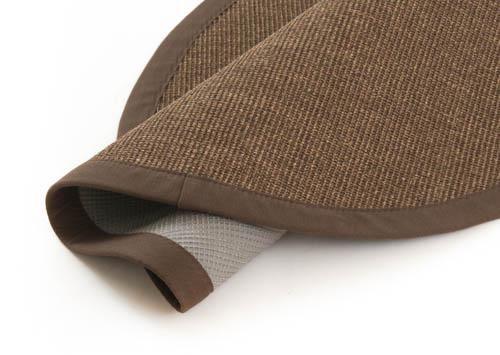 tapis rond sisal manaus marron fonc. Black Bedroom Furniture Sets. Home Design Ideas