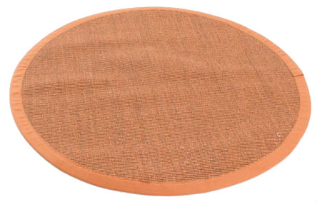 tapis rond sisal manaus marron orange. Black Bedroom Furniture Sets. Home Design Ideas
