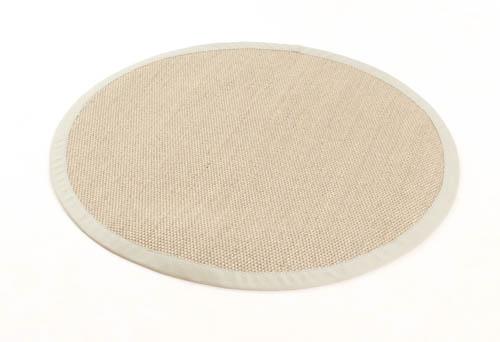 tapis rond sisal santiago beige argent. Black Bedroom Furniture Sets. Home Design Ideas