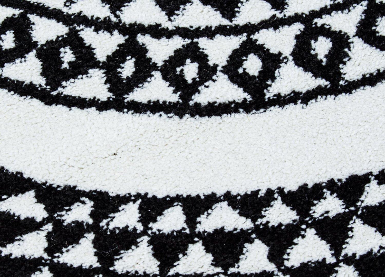 tapis rond aztek noir blanc. Black Bedroom Furniture Sets. Home Design Ideas