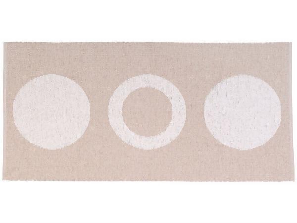 tapis en plastique le tapis de horred circle beige. Black Bedroom Furniture Sets. Home Design Ideas
