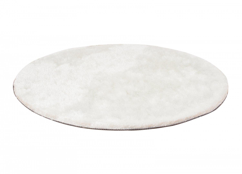 Tapis Long Poil Blanc tapis rond - cosy (blanc)