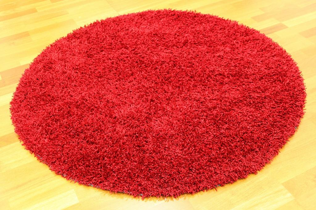 Tapis rond - Fancy (Rouge)
