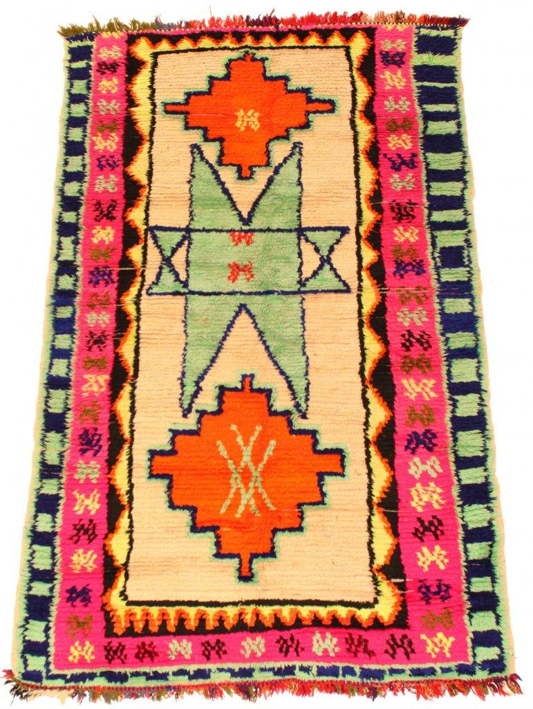 Tapis Kilim Marocain Berbere Azilal 195 X 120 Cm