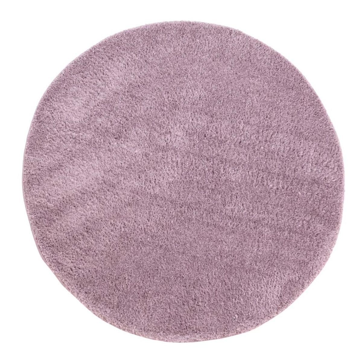 Tapis rond - Soft Shine (violet) - Trendcarpet.fr