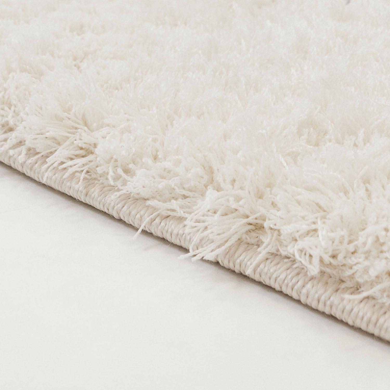 Tapis Long Poil Blanc tapis rond - soft shine (blanc)