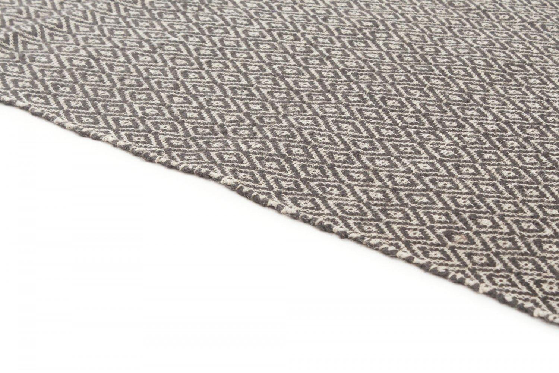 tapis chanvre puebla noir gris. Black Bedroom Furniture Sets. Home Design Ideas